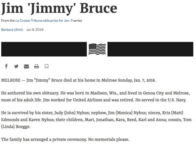 Jim Bruce Obit